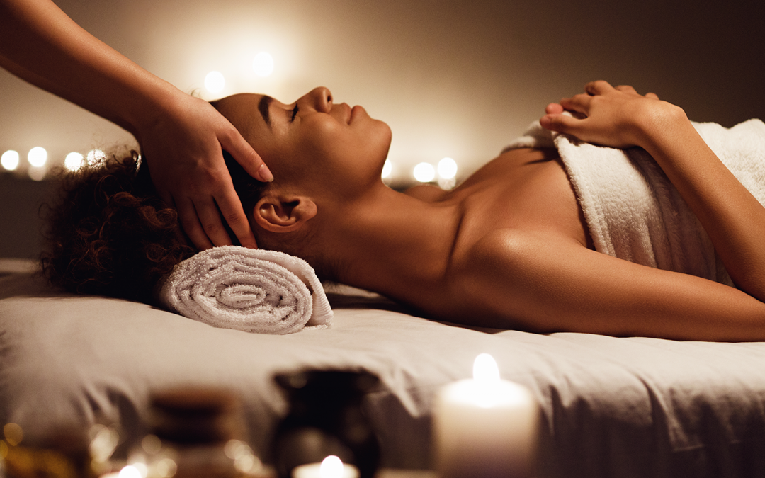 Massage Atmosphere Creates Relaxing Setting with Music Lighting Scents and Temperature